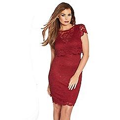 Jessica Wright - Berry 'Luticia' lace mini dress