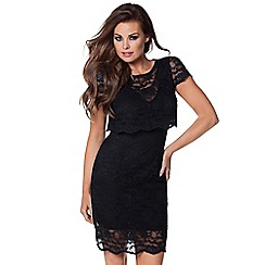 Jessica Wright - Black 'Lucinda' lace midi dress