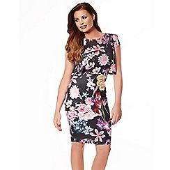 Jessica Wright - Multicoloured 'Kylie' midi bodycon print dress