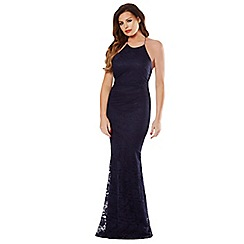 Jessica Wright - Navy 'Lilian' maxi fishtail dress