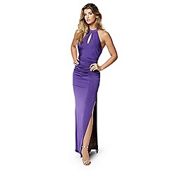 Lipstick Boutique - Purple 'Zena' maxi dress