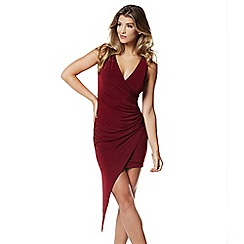 Lipstick Boutique - Berry 'Messa' wrap dress