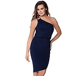 Jessica Wright - Navy 'Perry' one shoulder slinky dress