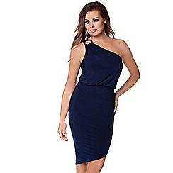 Jessica Wright - Navy 'Perry' one shoulder slinky dress