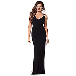 Jessica Wright - Black 'Audrey' cowl neck maxi dress