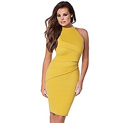 Jessica Wright - Mustard 'Sia' halterneck dress