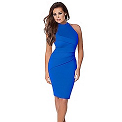 Jessica Wright - Blue 'Sia' halterneck dress