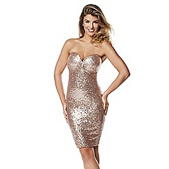 Lipstick Boutique - Gold 'Sierra' bustier dress