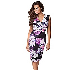 Jessica Wright - Purple 'Erin' print wrap dress
