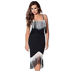 Jessica Wright - Monochrome 'Nadia' fringe dress