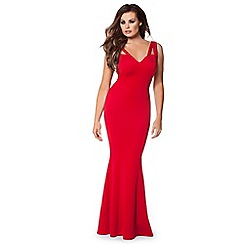 Jessica Wright - Red 'Ruby' cut out maxi dress