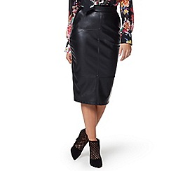 Jessica Wright - Black 'Leigh' faux leather skirt