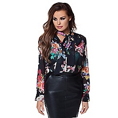 Jessica Wright - Floral 'Tula' print blouse
