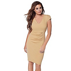 Jessica Wright - Camel 'Aliz' bodycon dress