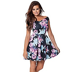 Jessica Wright - Blue 'Amelia' floral skater dress