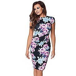 Jessica Wright - Blue 'Eden' print bodycon dress