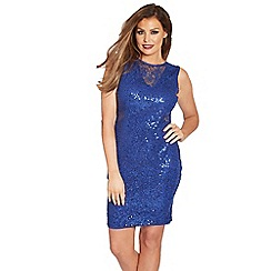 Jessica Wright - Blue 'Vivienne' sequin midi dress