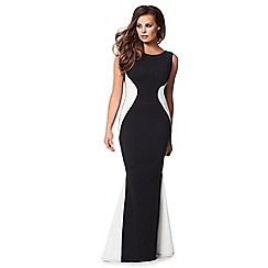 Jessica Wright - Monochrome 'Nila' fishtail maxi dress
