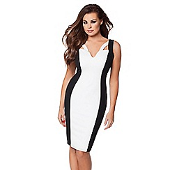 Jessica Wright - Black & white 'Zara' monochrome bodycon dress