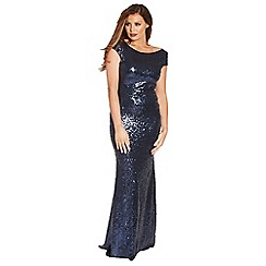 Jessica Wright - Navy 'Fran' vip sequin maxi dress