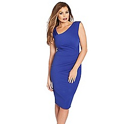 Jessica Wright - Blue 'Toni' ruched bodycon dress