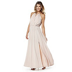 Lipstick Boutique - Nude 'Georgia split maxi dress
