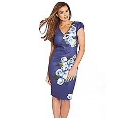 Jessica Wright - Floral 'Abi' pleated midi dress