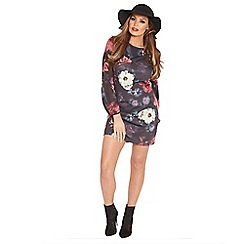 Jessica Wright - Floral 'Maria' print scoop neck shift dress