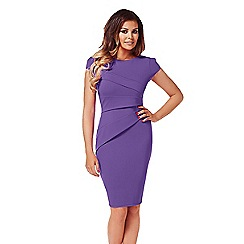 Jessica Wright - Purple 'Vicky' midi bodycon dress