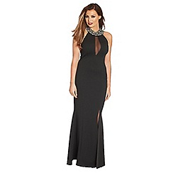 Jessica Wright - Black 'Mika' jewel neck maxi dress