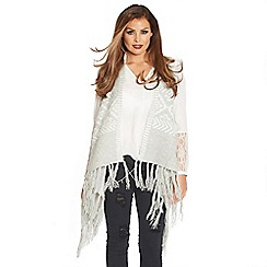 Jessica Wright - Grey 'Neeve' knitted cape