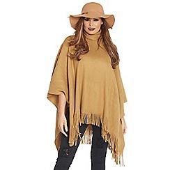 Jessica Wright - Camel 'Samia' soft fabric poncho