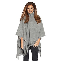 Jessica Wright for Sistaglam - Grey 'Samia' soft fabric poncho
