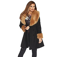 Jessica Wright - Black 'Camilla' coat