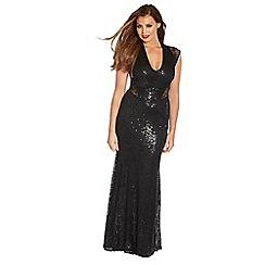 Jessica Wright - Black 'Becky' sequin glitz maxi dress
