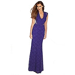 Jessica Wright for Sistaglam - Cobalt blue 'Becky' sequin maxi dress