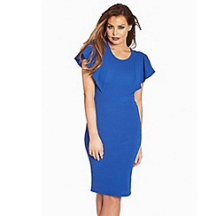 Jessica Wright - Blue 'Felicity' frill midi dress