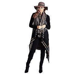 Jessica Wright - Multicoloured black 'Geri' winter cape