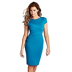 Jessica Wright - Teal 'Vicky' bodycon midi dress