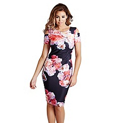 Jessica Wright - Floral print 'Avery' cold shoulder bodycon dress