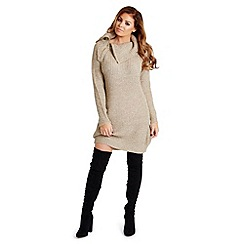 Jessica Wright - Beige 'Suzanna' knit jumper dress