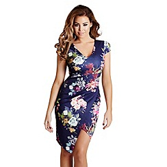 Jessica Wright - Blue floral 'Abbey' shift midi dress