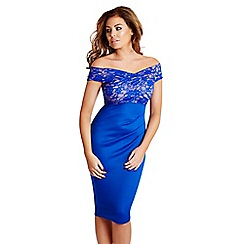 Jessica Wright - Blue 'Carrie' lace midi dress