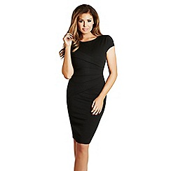 Jessica Wright - Black 'Vicky' pleated midi dress
