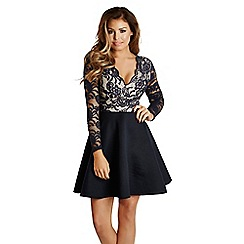 Jessica Wright for Sistaglam - Navy 'Tammy' skater dress