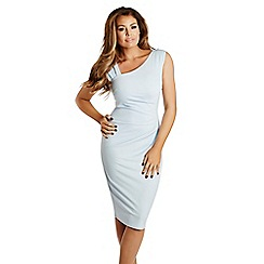 Jessica Wright - Pale blue 'Toni' ruched bodycon dress