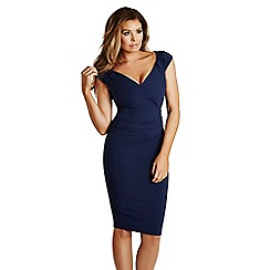 Jessica Wright - Navy 'Cassidy' ruched bodycon dress