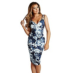 Jessica Wright - Floral print 'Elodie' pleated midi dress