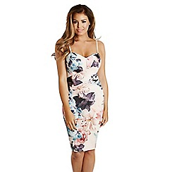 Jessica Wright for Sistaglam - Floral 'Lois' panelled print bodycon dress