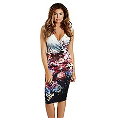 Jessica Wright - Floral 'Liberty' wrap front midi dress